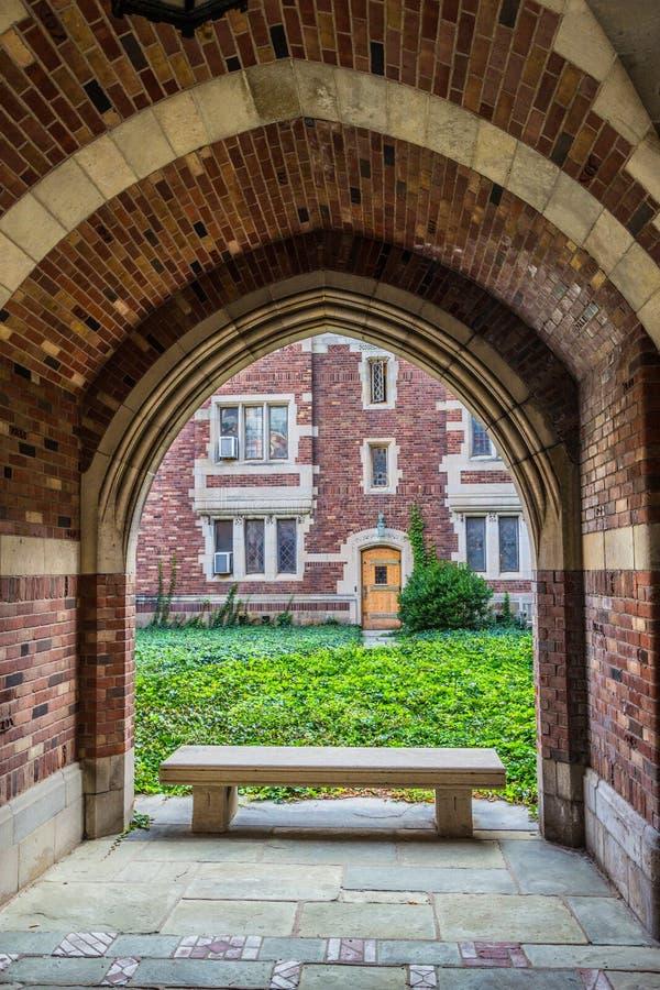 Yale University-Campusgebäude lizenzfreie stockbilder