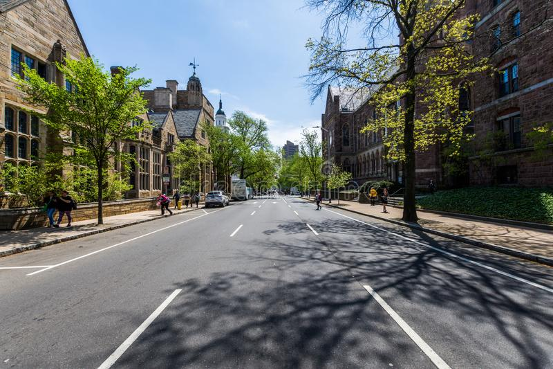 Yale University i New Haven Connecticut royaltyfria bilder
