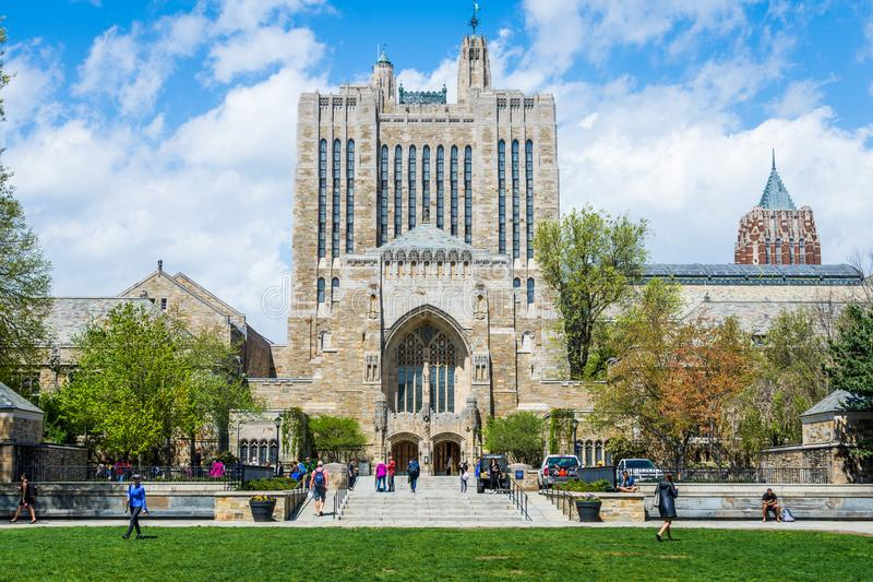 Yale University i New Haven Connecticut arkivfoton