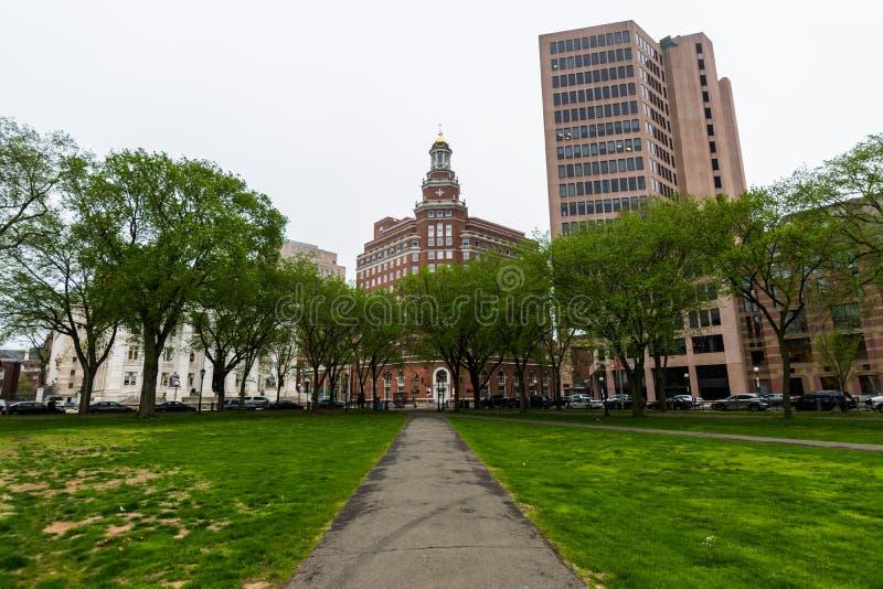 Yale University i New Haven Connecticut royaltyfria foton