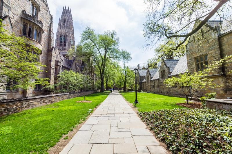 Yale University in New Haven Connecticut.  royalty free stock photos