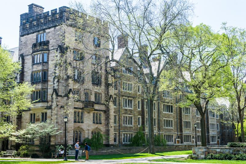Yale University in New Haven Connecticut.  royalty free stock images