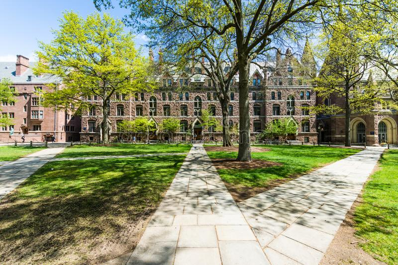 Yale University in New Haven Connecticut.  royalty free stock photo