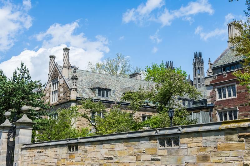 Yale University in New Haven Connecticut.  stock image