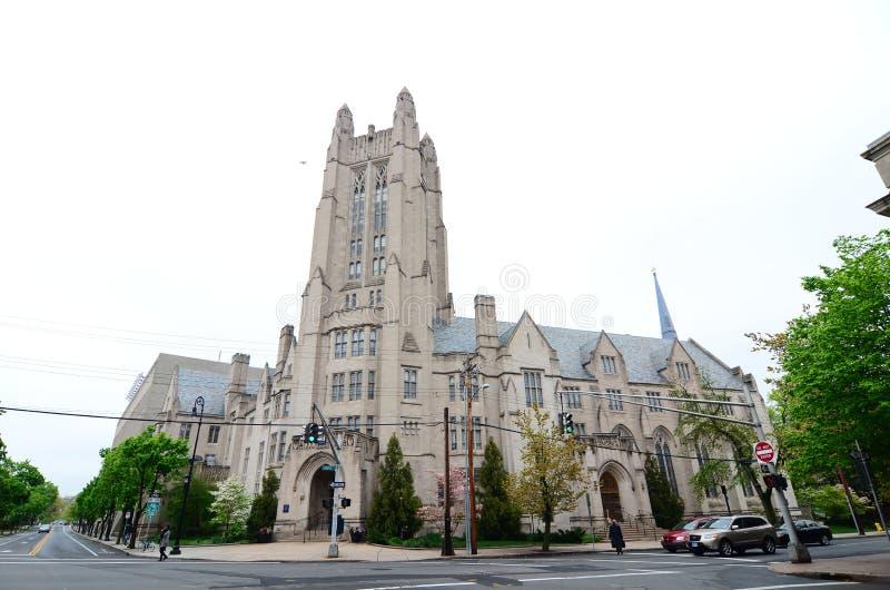 Yale University Sheffield Scientific School som bygger det utsmyckade viktorianska tornet arkivfoton