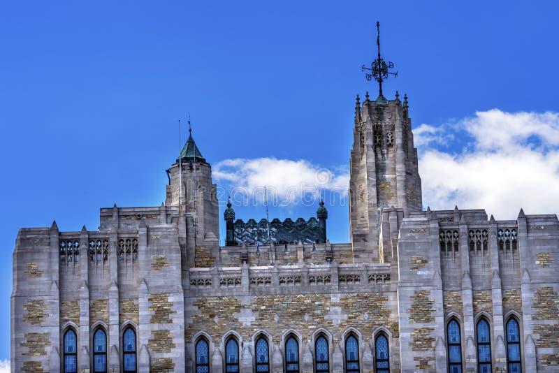 Yale University Sterling Memorial Library New-Haven Connecticut lizenzfreie stockfotos