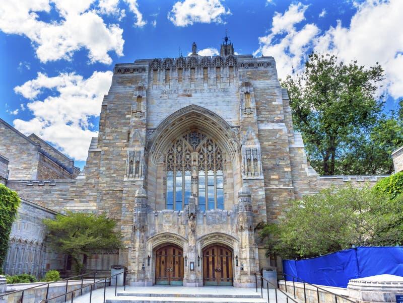 Yale University Sterling Memorial Library New-Haven Connecticut lizenzfreie stockfotografie