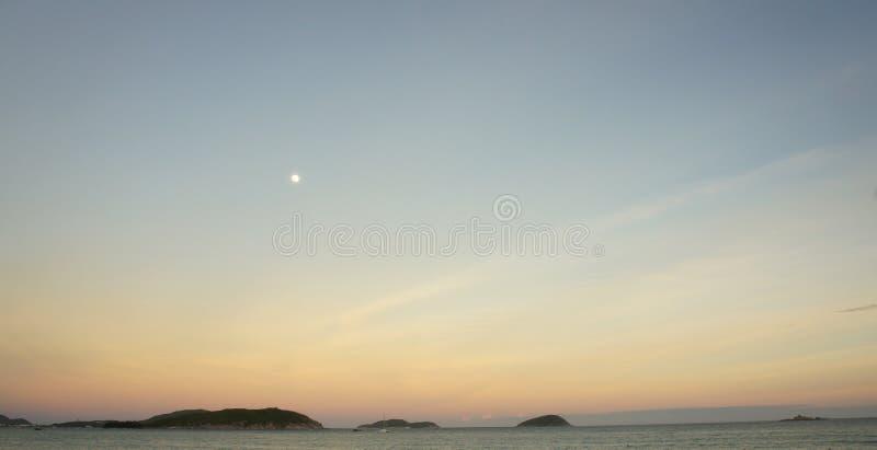 Yalong bay beach at sunset royalty free stock images