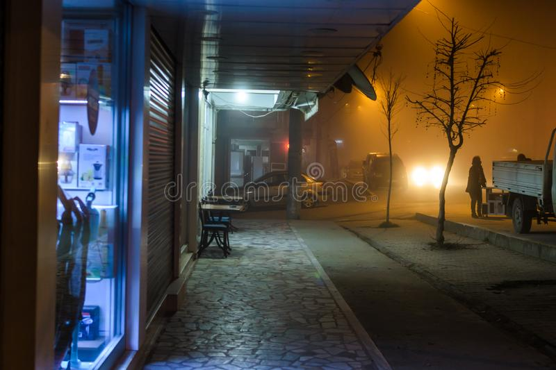 Scotch Mist In Turkish Summer and Holiday Vacation Town stock photos