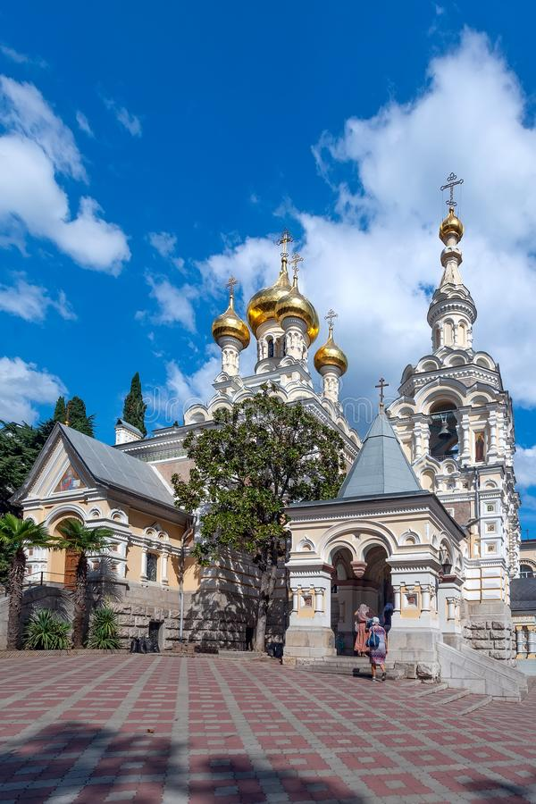 Yalta Cathedral of St. Alexander Nevsky. Crimea stock photo