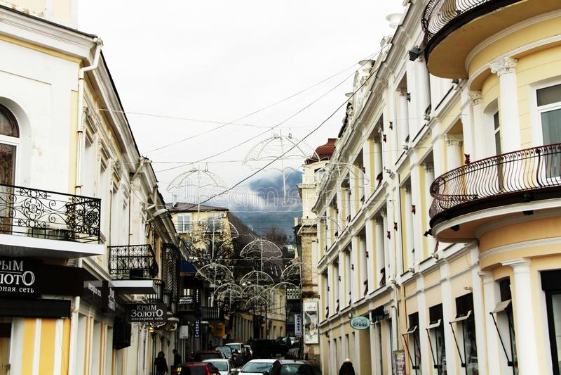 Yalta, Crimea. Embankment in Yalta stock photo