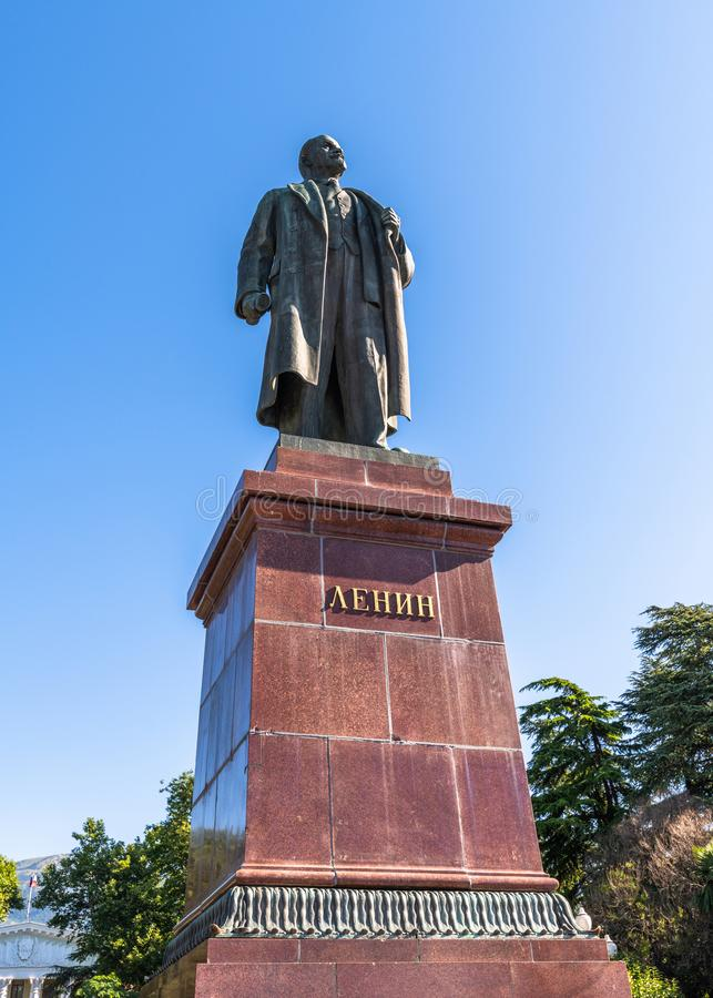 Yalta, Crimea -June 26. 2019 Monument Lenin - organizer and leader of the October Socialist Revolution of 1917 in Russia. Yalta, Crimea -June 26. 2019 Monument royalty free stock images