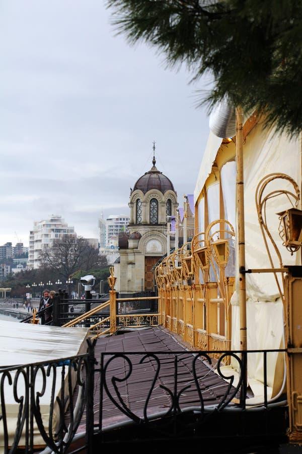 Yalta, de Krim Dijk in Yalta stock afbeeldingen