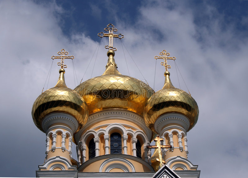 Yalta orthodox catherdral stock images
