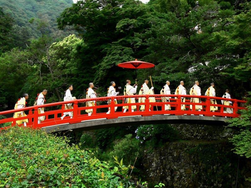 Yamabushi Zeremonie stockfotos