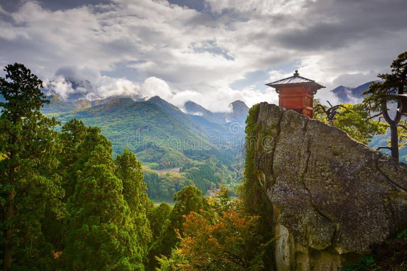 Yamadera Mountain Temple royalty free stock photo