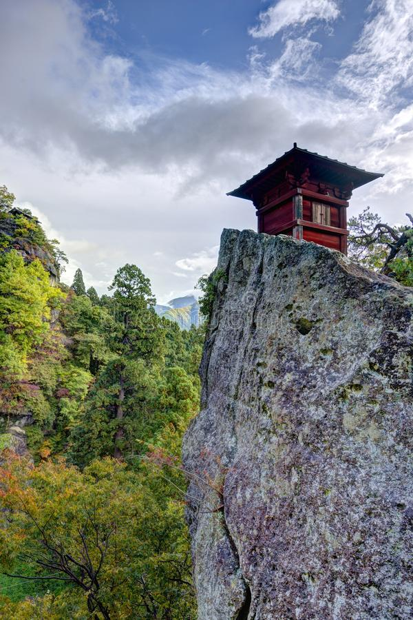 Yamadera Mountain Temple royalty free stock images