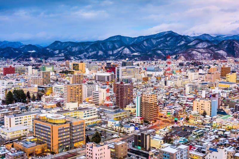 Yamagata, horizon du Japon images libres de droits