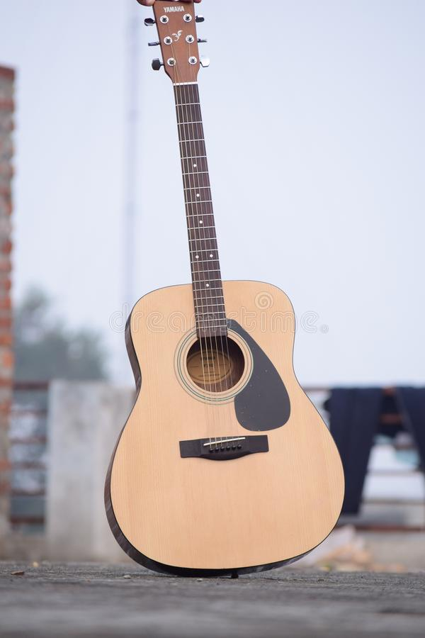 Yamaha guitar royalty free stock photography