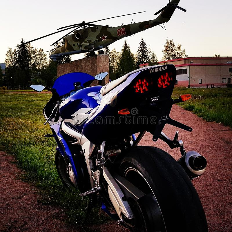 Yamaha r6 imagens de stock