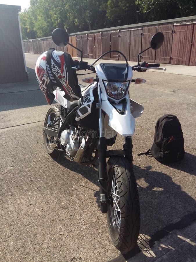Yamaha WR 125 X fotografia stock libera da diritti