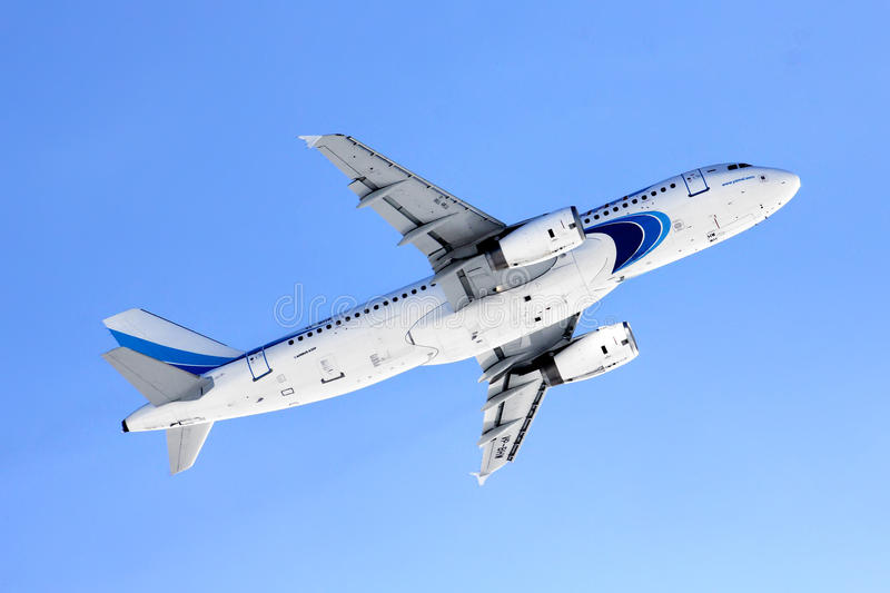Yamal Airlines Airbus A320. NOVYY URENGOY, RUSSIA - MARCH 21, 2013: Yamal Airlines Airbus A320 takes off the Novyy Urengoy International Airport royalty free stock image