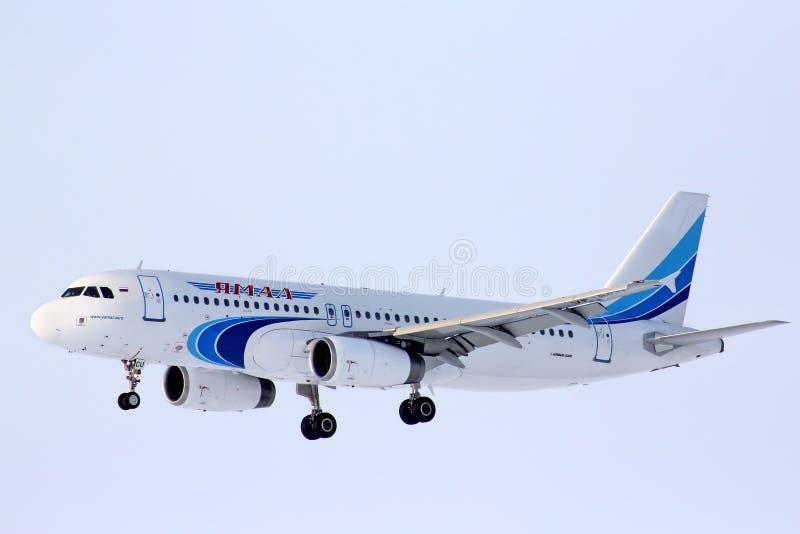 Yamal flygbolagflygbuss A320 royaltyfria foton