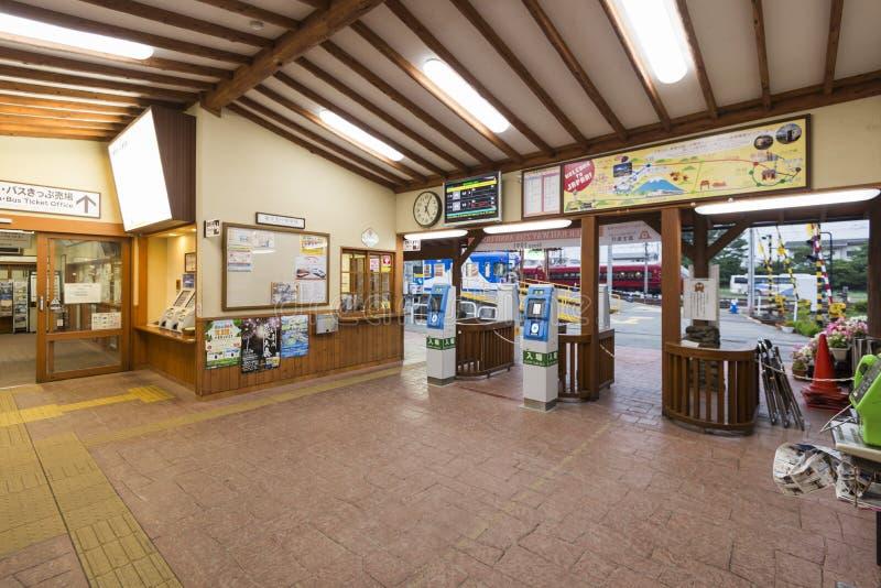 Yamanashi, Japón - 30 de septiembre de 2016: Interior de la estación de Kawaguchiko, Yamanashi, Japón fotografía de archivo libre de regalías