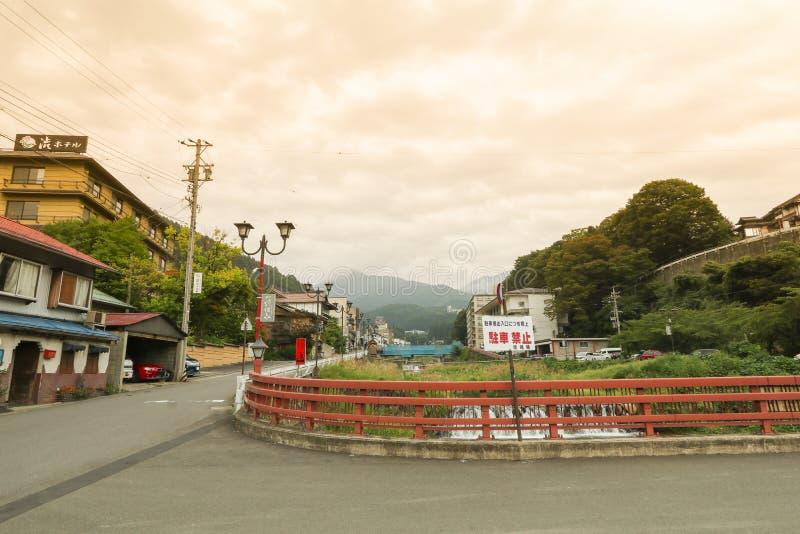YAMANOUCHI, JAPAN - September 17, 2016:Yamanouchi village view,Yudanaka Onsen. YAMANOUCHI, JAPAN - September 17, 2016:Yamanouchi village view,Yudanaka Onsen has royalty free stock photo