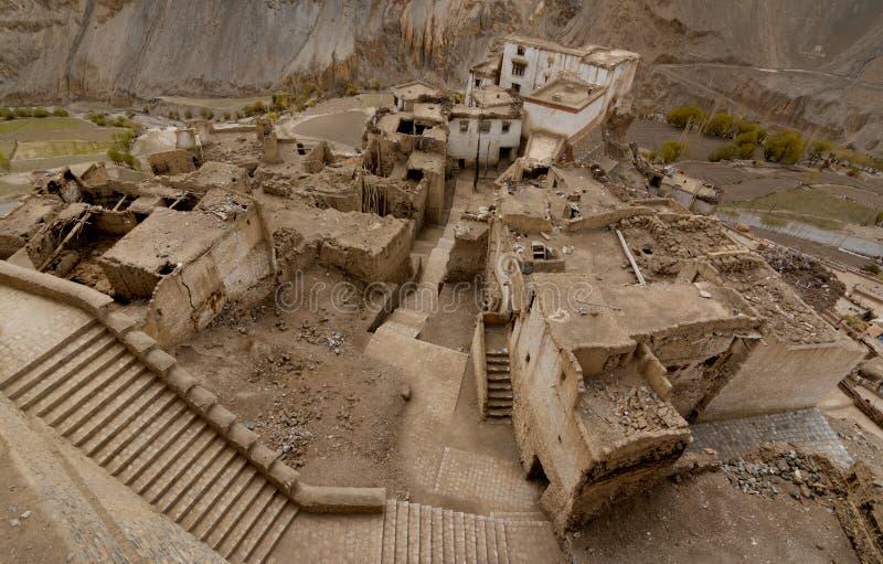 Yamayuru Monastero-più vecchio in Ladahk immagini stock