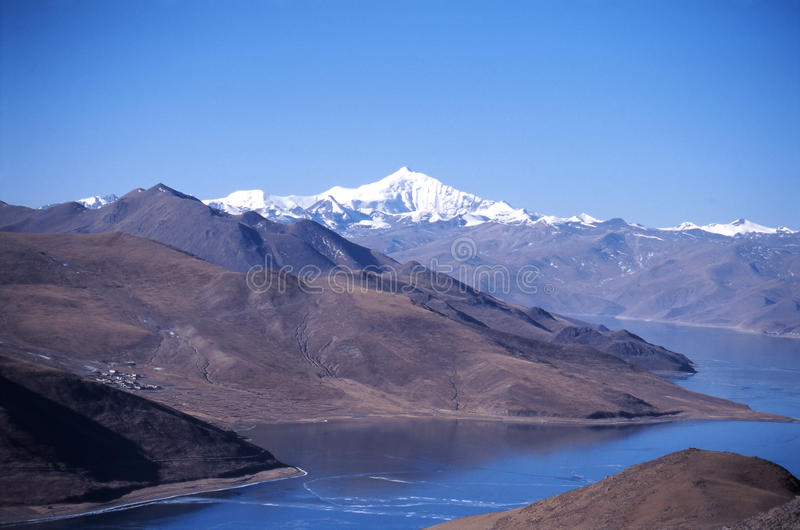 Yamdrok lake royalty free stock photo