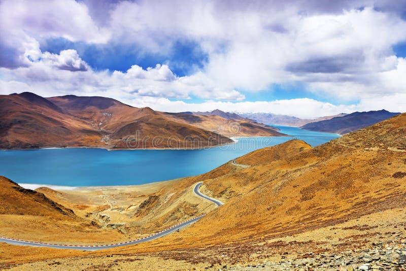 Yamdrok Lake In Tibet, China Royalty Free Stock Photos