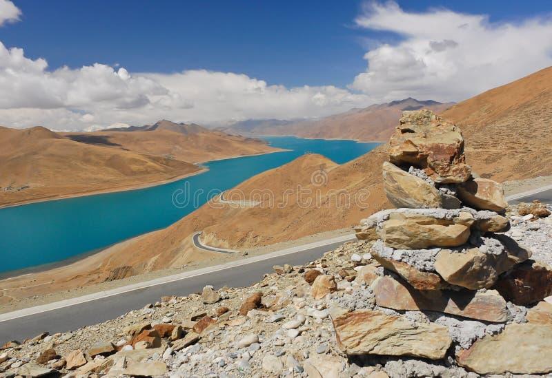 Download Yamdrok Sacred Lake Stock Images - Image: 23415574