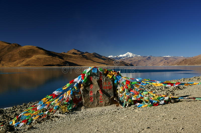 Yamdrok Yumts lake in tibet royalty free stock images