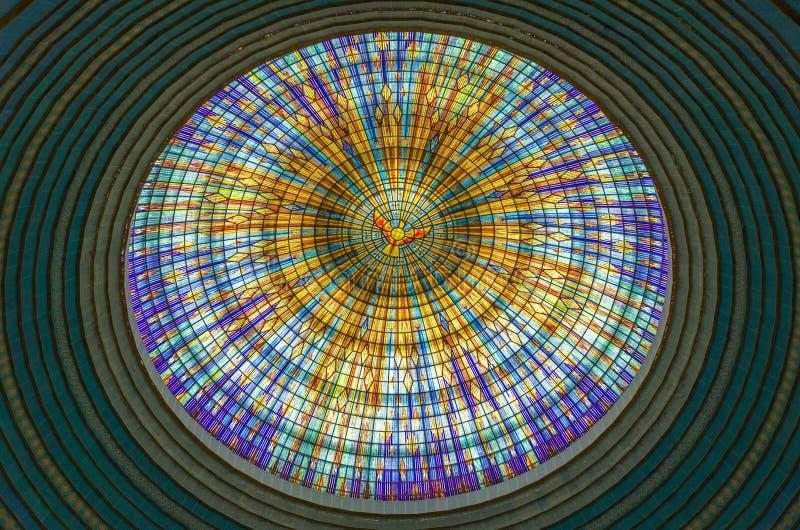 Yamoussoukro, Côte d'Ivoire - 1er février 2014 : Basilique célèbre de point de repère de notre Madame de paix, cathédrale chrétie photographie stock libre de droits