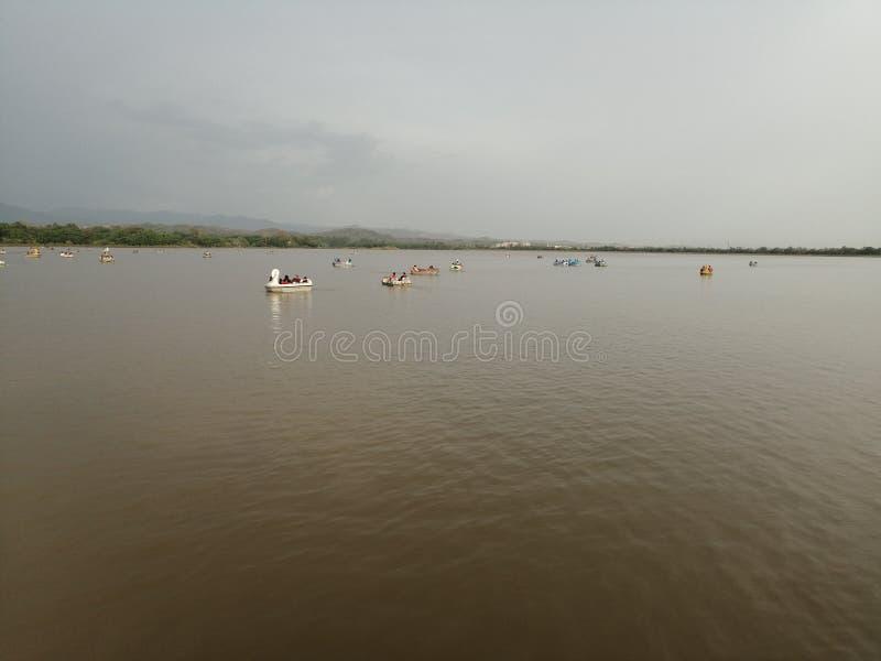 Yamuna-Mangel in Delhi lizenzfreie stockfotografie
