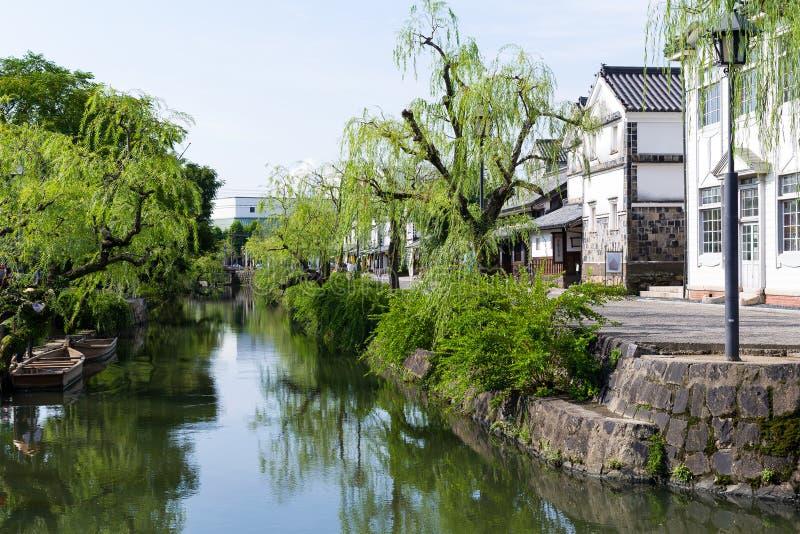 Yanagawa-Flusskanal lizenzfreie stockfotos