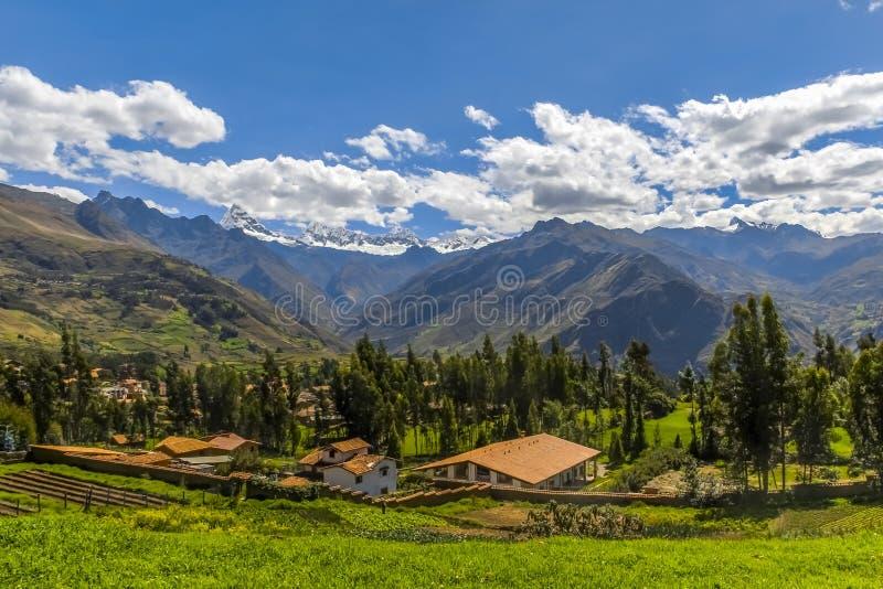 Yanama krajobraz Yungay Huaraz Peru zdjęcie stock