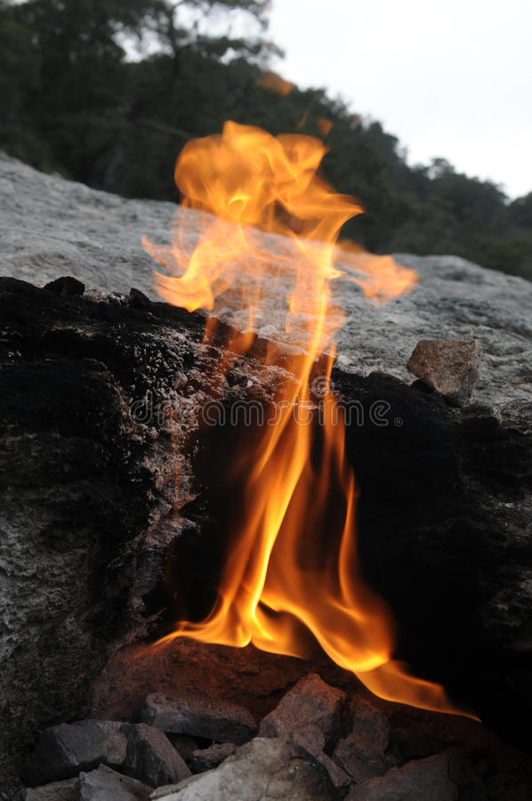 The fires of Yanartas royalty free stock photo