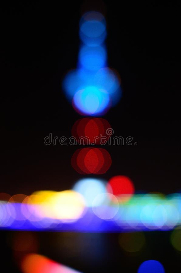 Yancheng Julonghu TV Tower. The night scene of the TV Tower in Yancheng China stock image