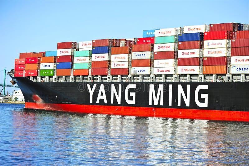 Download Yang Ming Morskiego Transportu Naczynie Fotografia Editorial - Obraz złożonej z naczynie, schronienie: 53779592