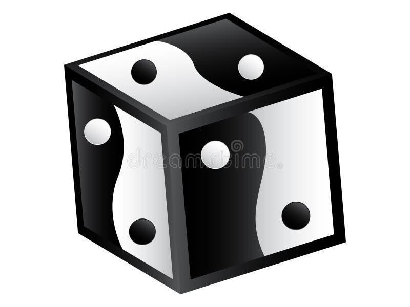 yang pudełkowaty yin ilustracja wektor
