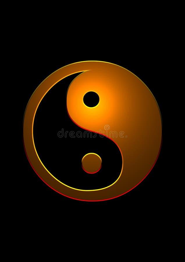yang yin royaltyfri illustrationer
