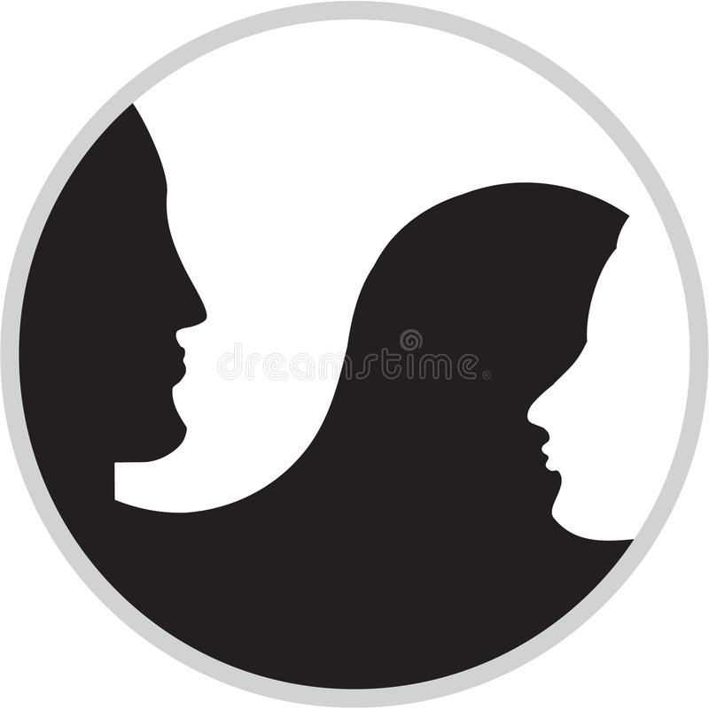 Download Yang  and  yin stock vector. Image of vector, icon, couple - 5175886