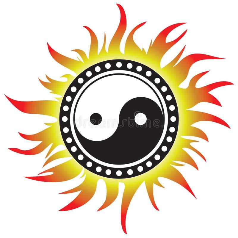yang yin διανυσματική απεικόνιση