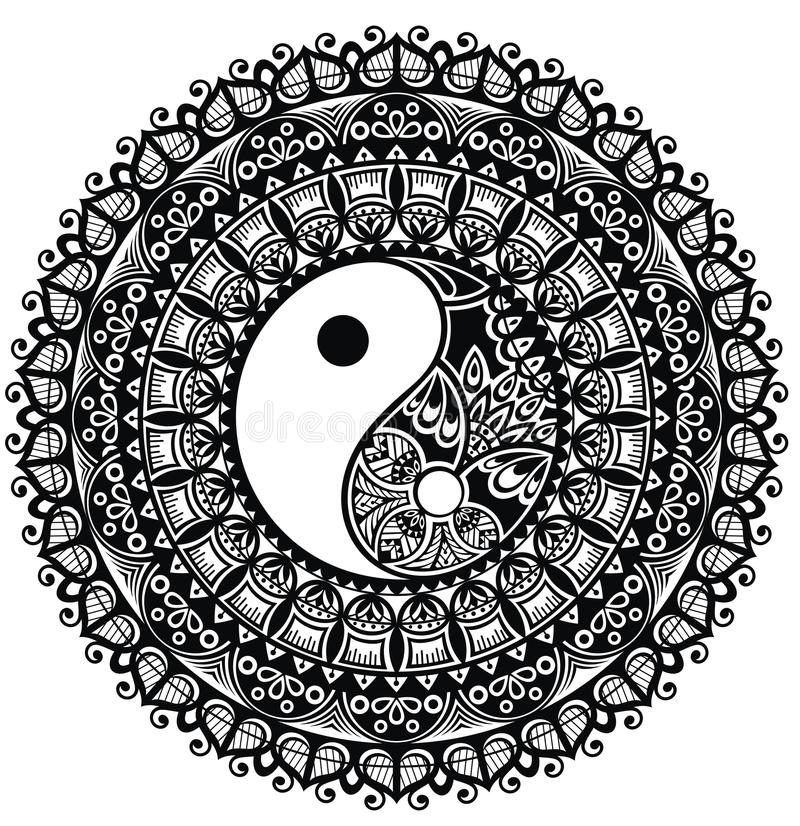 yang yin mandala ελεύθερη απεικόνιση δικαιώματος