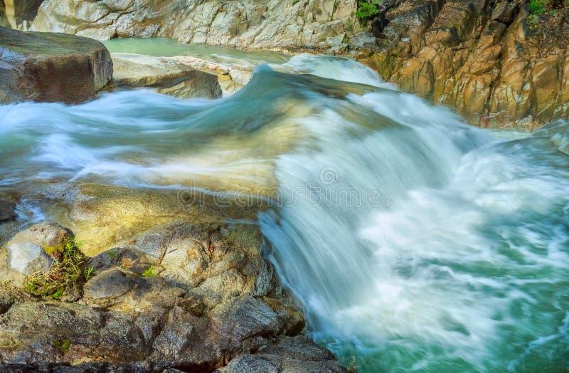 Yangbay close waterfalls, Khanh Hoa, Vietnam stock photos