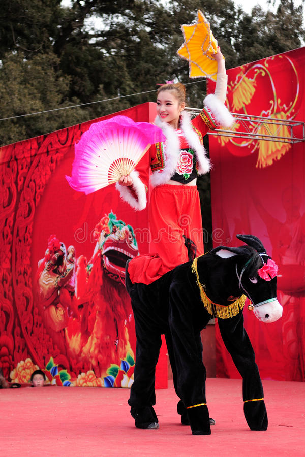 Yangge dance. Yangko dance, is derived from life dialect and local folk art flower dances of the Han nationality, is the main Chinese folk entertainment of. Be stock photos