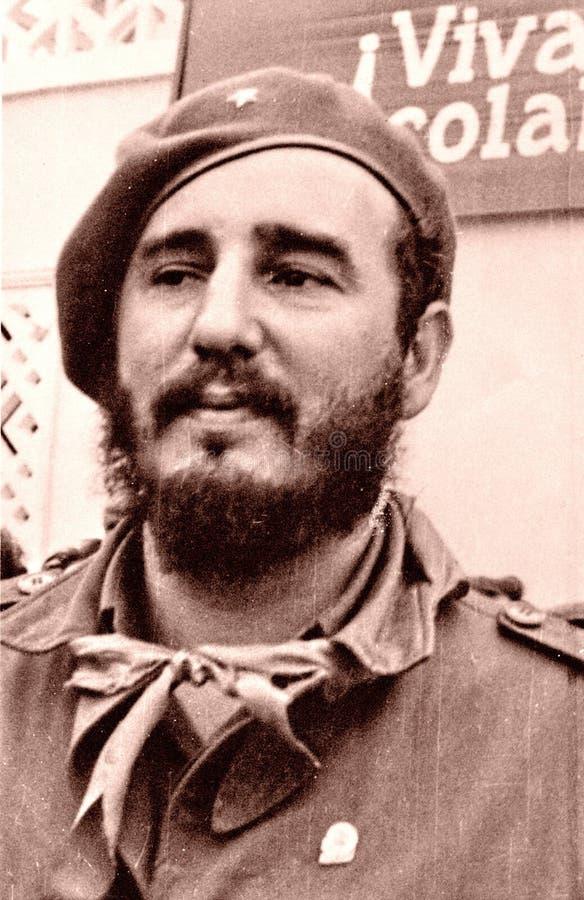 Yangiyer el retrato de Fidel May 1963 imágenes de archivo libres de regalías