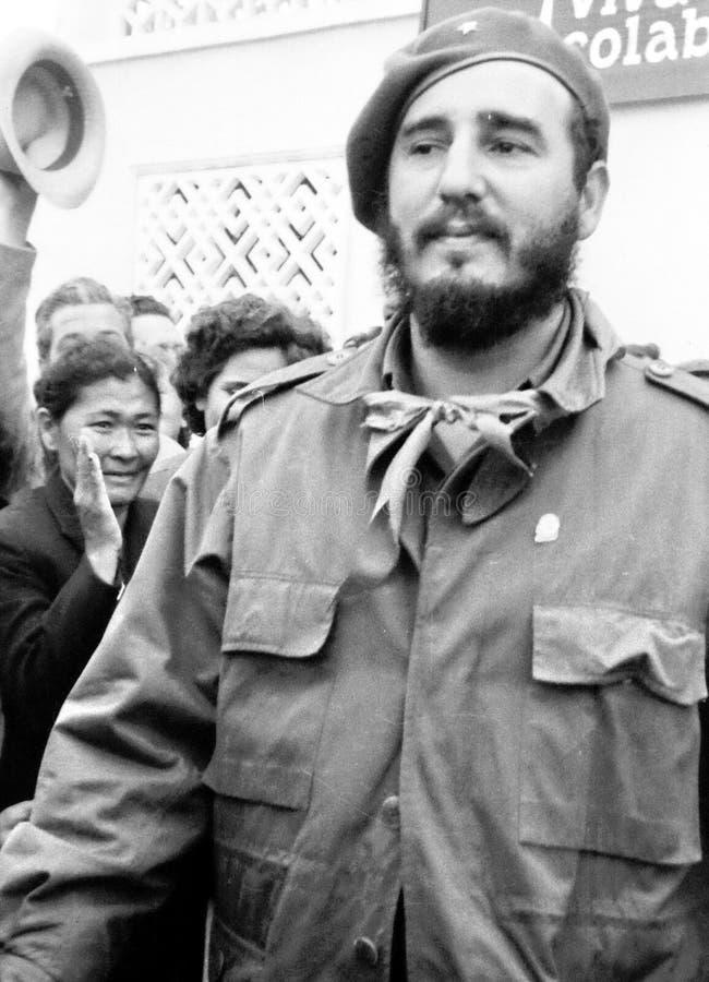 Yangiyer Fidel Castro 1963 fotografía de archivo libre de regalías